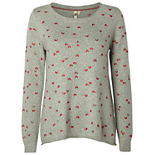 Buy White Stuff Helsinki Embroidered Jumper, Glaze Grey Online at johnlewis.com