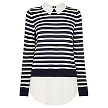 Buy Oasis Stripe 2 in 1 Shirt, Multi Black Online at johnlewis.com