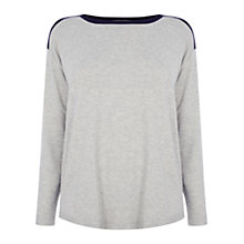 Buy Oasis Colourblock Jersey Top, Multi Blue Online at johnlewis.com