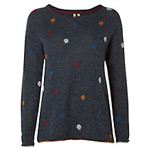 Buy White Stuff Glaze Spot Jumper, Ink Blue Online at johnlewis.com