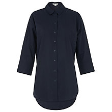 Buy Whistles Oversized Poplin Shirt, Navy Online at johnlewis.com