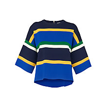 Buy Whistles Darwin Stripe Zip Knit, Multi Online at johnlewis.com