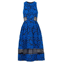 Buy Whistles Carine Strappy Lace Dress, Navy Online at johnlewis.com
