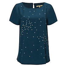 Buy White Stuff Sparkle Spot Top, Heron Blue Online at johnlewis.com