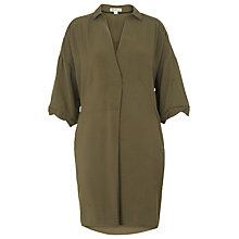 Buy Whistles Lola Dress, Khaki Online at johnlewis.com