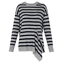 Buy Whistles Asymmetric Jumper, Grey/Multi Online at johnlewis.com
