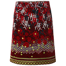 Buy White Stuff Printed Winter Skirt, Rich Red Online at johnlewis.com