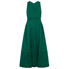 Buy Whistles Bonded Lace Dress, Green Online at johnlewis.com