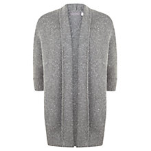 Buy Mint Velvet Shawl Neck Wool Blend Cardigan, Granite Online at johnlewis.com
