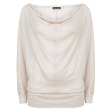 Buy Mint Velvet Shimmer Cowl Neck T-Shirt, Pale Pink Online at johnlewis.com