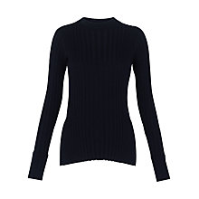 Buy Whistles Frey Skinny Rib Knit, Navy Online at johnlewis.com