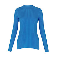 Buy Whistles Frey Skinny Rib Knit, Blue Online at johnlewis.com