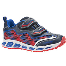 Buy Geox Children's Shuttle Light-Up Trainers, Navy/Royal Online at johnlewis.com
