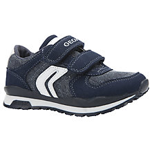 Buy Geox Children's Pavel Suede Rip-Tape Shoes Online at johnlewis.com