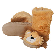 Buy Hatley Lion Slipper Boots, Brown Online at johnlewis.com