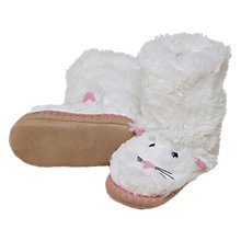 Buy Hatley Cat Slipper Boots, White Online at johnlewis.com
