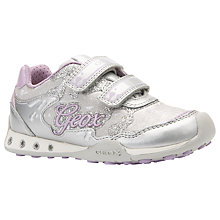 Buy Geox Children's New Jocker Rip-Tape Trainers, Silver/Lilac Online at johnlewis.com