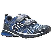 Buy Geox Children's JR Bernie Rip-Tape Trainers, Navy/Royal Online at johnlewis.com