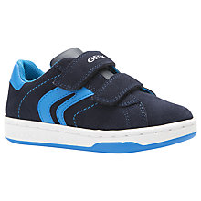 Buy Geox Children's Maltin Rip-Tape Trainers, Navy/Sky Online at johnlewis.com