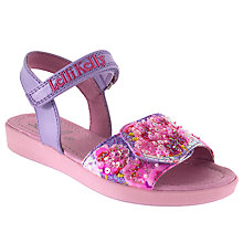 Buy Lelli Kelly Children's Beaded Leather Rip-Tape Sandals, Pink Online at johnlewis.com