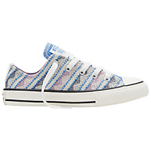 Buy Converse Children's Chuck Taylor All Star Low Rise Trainers, Blue/Pink Online at johnlewis.com