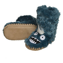 Buy Hatley Ice Monster Slipper Boots, Green Online at johnlewis.com