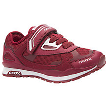 Buy Geox Children's Pavel Rip-Tape Trainers, Red Online at johnlewis.com