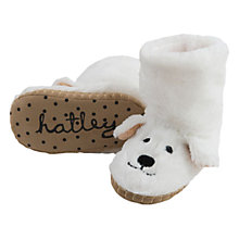 Buy Hatley Polar Bear Slipper Boots, White Online at johnlewis.com