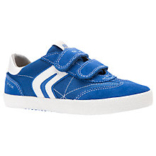Buy Geox Children's Kiwi Ripe-Tape Shoes, Royal/Off White Online at johnlewis.com