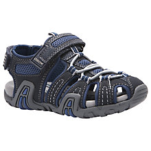 Buy Geox Children's Kraze Closed Toe Sandal, Navy/Avio Online at johnlewis.com