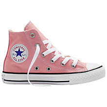 Buy Converse Children's Chuck Taylor All Star Classic High Top Shoes, Light Pink Online at johnlewis.com