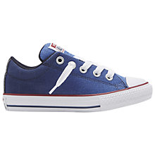 Buy Converse Children's Chuck Taylor All Star Low Rise Trainers, Blue/White Online at johnlewis.com