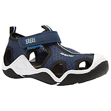 Buy Geox Children's Wader Rip-Tape Sandals, Navy/Black Online at johnlewis.com