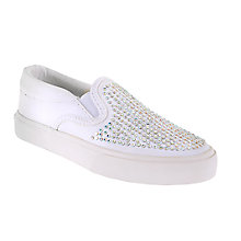 Buy Lelli Kelly Stella Canvas Rhinestone Slip-On Pumps, White Online at johnlewis.com