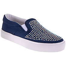 Buy Lelli Kelly Children's Stella Cavas Slip-On Pumps, Blue Online at johnlewis.com