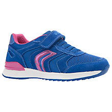 Buy Geox Children's Maisie Trainers, Royal Online at johnlewis.com