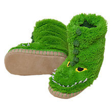Buy Hatley Alligator Slipper Boots, Green Online at johnlewis.com