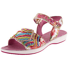 Buy Lelli Kelly Children's Arcobaleno Fantasy Rip-Tape Leather Sandal, Multi Online at johnlewis.com