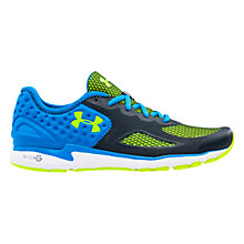Buy Under Armour Micro G Mantis II Men's Running Shoes, Blue/Grey Online at johnlewis.com