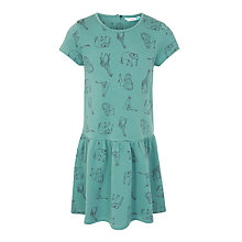 Buy John Lewis Girls' Animal Print Dress, Green Online at johnlewis.com