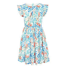 Buy John Lewis Girls' Floral Ruffle Sleeve Dress, Multi Online at johnlewis.com