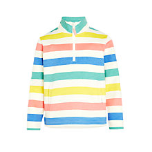 Buy John Lewis Girls' Funnel Neck Stripe Sweater, Multi Online at johnlewis.com