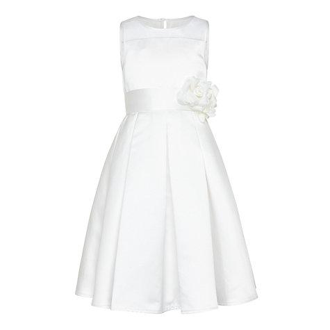 Buy john lewis girls 39 alice satin mesh panel bridesmaid for John lewis wedding dresses