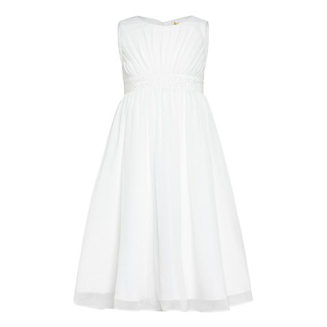 Buy john lewis girls 39 ava beaded chiffon bridesmaid dress for John lewis wedding dresses