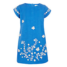 Buy John Lewis Girls' Embroidered Shift Dress, Blue Online at johnlewis.com