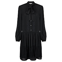 Buy Somerset by Alice Temperley Tie Neck Dress, Black Online at johnlewis.com