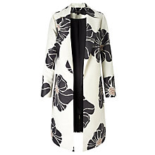 Buy Bruce by Bruce Oldfield Floral Print Coat, Black/Cream Online at johnlewis.com