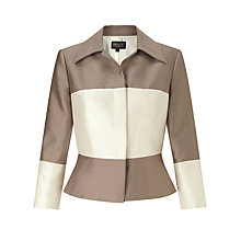 Buy Bruce by Bruce Oldfield Silk Wool Jacket, Taupe/Cream Online at johnlewis.com