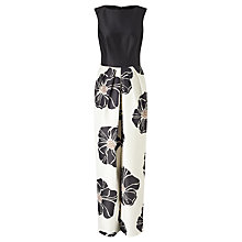 Buy Bruce by Bruce Oldfield Full Length Floral Dress, Black/Cream Online at johnlewis.com
