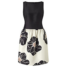 Buy Bruce by Bruce Oldfield Floral Dress, Black/Cream Online at johnlewis.com